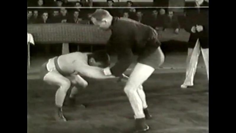 Первенство СССР по самбо 1954 года в Харькове. До 72 кг. Глориозов - Авдеев