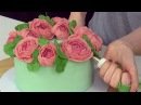 Peony Buttercream Flower Wreath Cake Decorating - CAKE STYLE