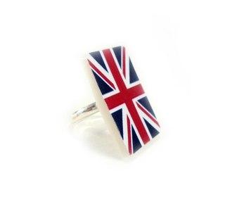 серьги британский флаг.