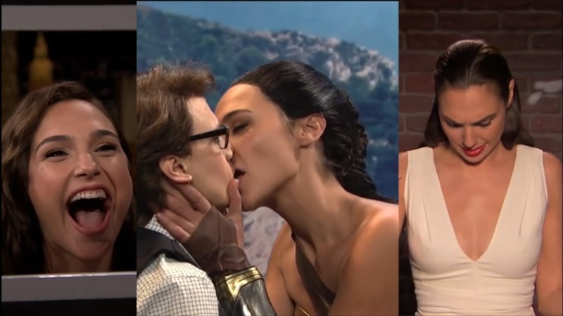 Gal Gadot - Gone Crazy || Gal gadot Kisses Kate McKinnon || Funniest moments