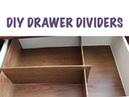 CHEAP ORGANIZING DIY Drawer Dividers