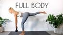 Madie Lymburner - Full Body Kettlebell Workout (At Home Workout) | Тренировка с гирей для всего тела (для среднего уровня подготовки)