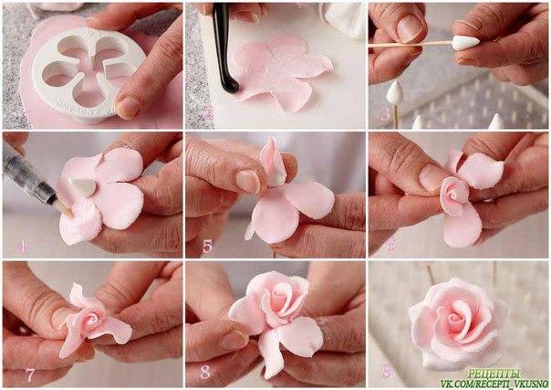 пошаговое лепка из мастики фото