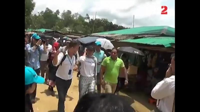 Bollywood actor Priyanka Chopra s second day at a Rohingya camp in Cox s Bazar