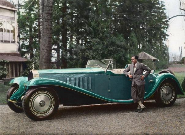 Жан Бугатти с Bugatti Royale Esders Roadster.