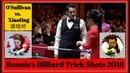 Ronnie's Billiard Trick Shots 2018. Ronnie O'Sullivan vs. Pan Xiaoting 潘晓婷