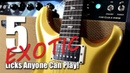 5 Exotic Guitar Licks That Will Make You Stand Out!