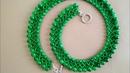Beaded necklace DIY Колье на бисерной сетке