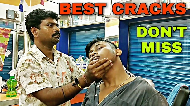 This barber give all the cracks perfectly | Relaxing head and body massage | Indian ASMR
