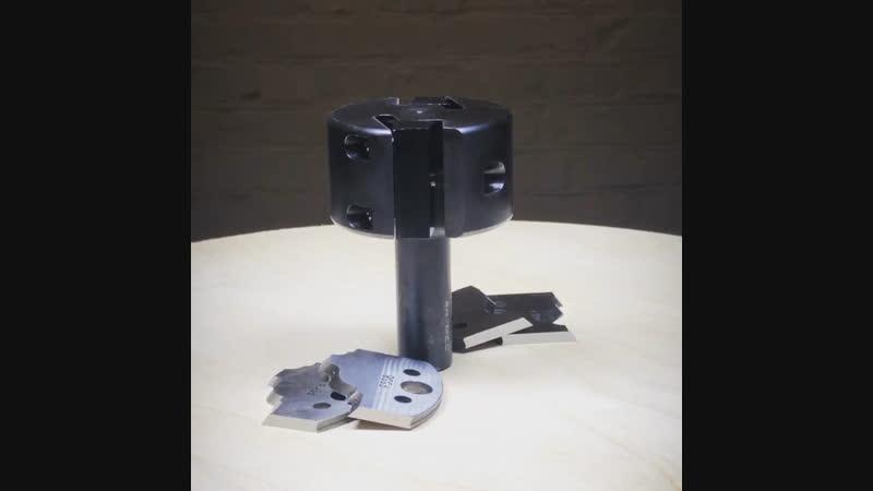 Фрезерная головка D=65x40x93 Z2 с хвостовиком S=20 мм для профильных ножей серии 690 артикул 663.301.11