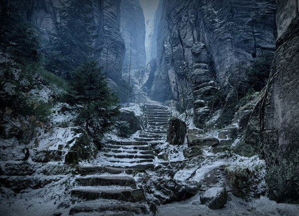 Праховы Скалы - путь до горы Хротгару, Чехия.