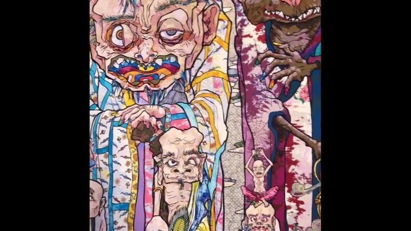 Сходила на выставку @takashipom Такеши Мураками в Vancouver Art Gallery. Это было необычно и интересно! такешимураками vancouv