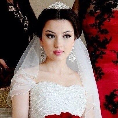 прически свадебные дагестанских девушек
