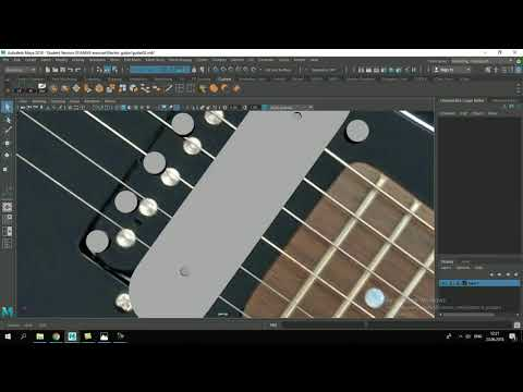 Electric Guitar 3D modeling time lapse