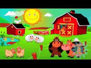 развивающий мультик стишок и голоса животных Веселая ферма  HD Раз Два Три ТВ