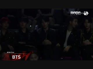 [2018mama x m2] 방탄소년단(bts) reaction to 로이킴(roy kim)'s performance in hong kong