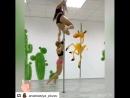 Парные трюки на пилоне Студия танца и фитнеса ANOKSA