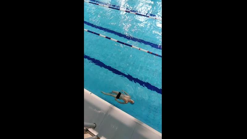 Димуля 3 месяца занятий по обучению плаванию