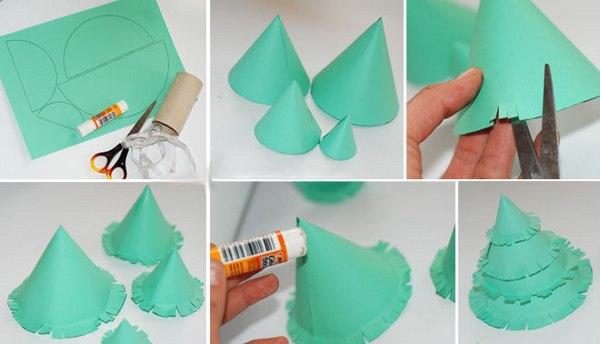 Сделать новогодние из бумаги из бумаги
