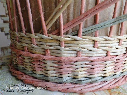 Плетение из газет: мк трёхцветной косы и загибка A97svx31XSE