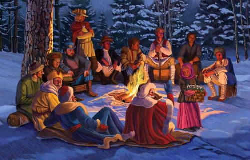 КАК В НОВОГОДНЮЮ НОЧЬ РАСЦВЕЛИ ПОДСНЕЖНИКИ ИСТОРИЯ СКАЗКИ ДВЕНАДЦАТЬ МЕСЯЦЕВ Ярким примером свежего подхода к фольклорному сюжету, примером создания нового на основе старого, является пьеса
