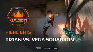 Highlights: tiziaN vs Vega Squadron, FACEIT Major: London 2018 - New Challengers Stage