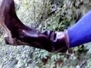 MSV. Clutch my wet mess TZRO 2С55 MTZ-91 rubber boots pouring water.