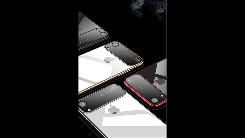 Luxury Lens Glass Case For iPhone XS MAX XR Cases Ultra Thin PC Transparent Back Glass Cover