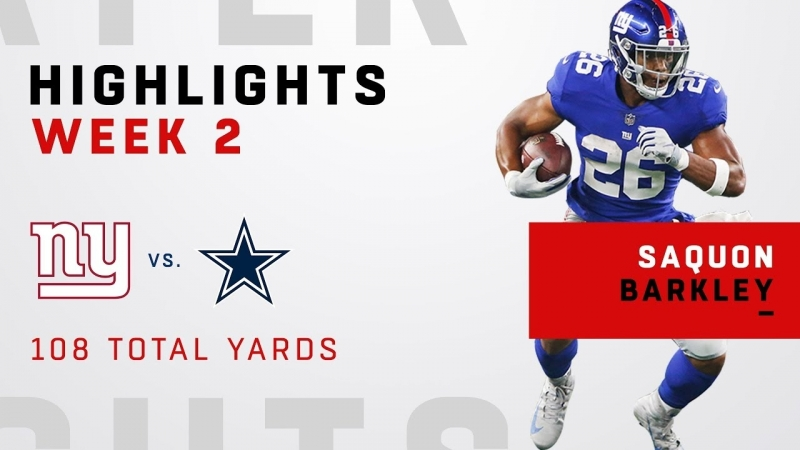 Saquon Barkleys 25 Touches for 108 Total Yards!