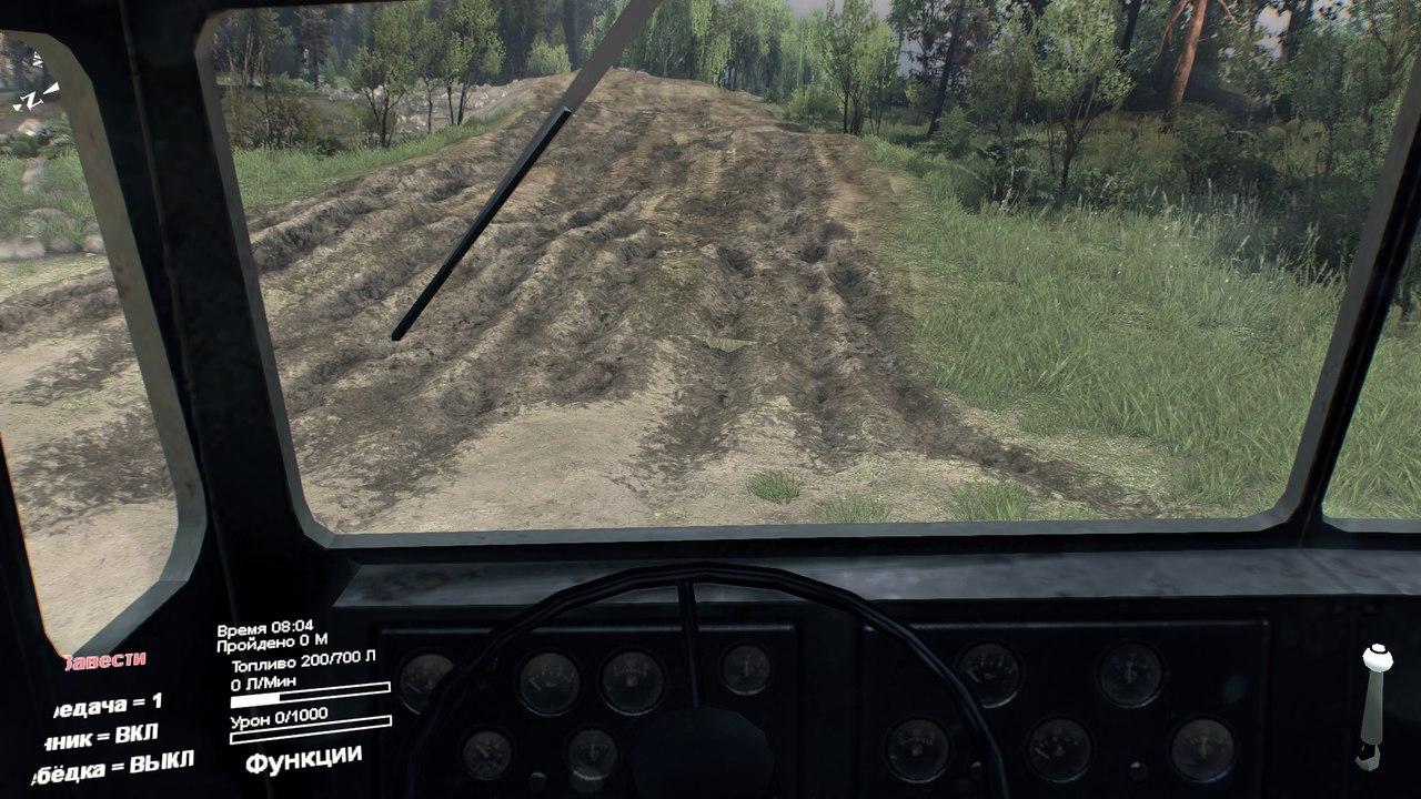 Вид из кабины для всех стандартных машин для Spintires - Скриншот 1