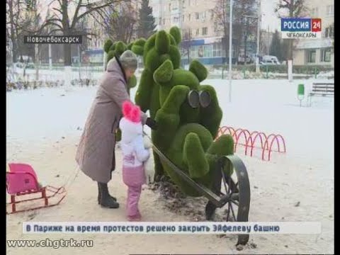 В Новочебоксарске появились зелёные поросята, медведи и ослик