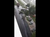 Асфальт в дождь на Кузбасской дивизии 46