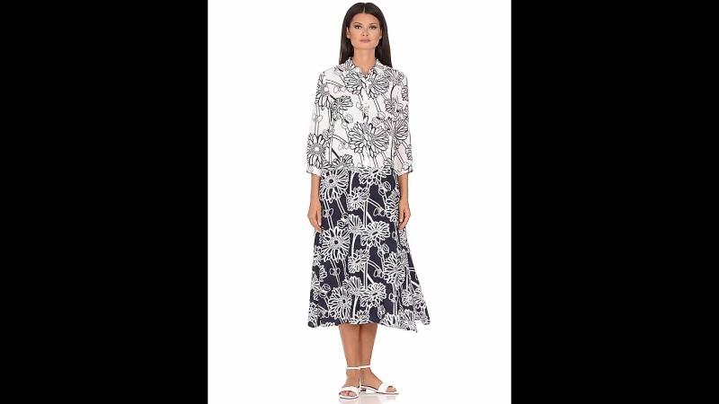 Контрастное платье из вискозы