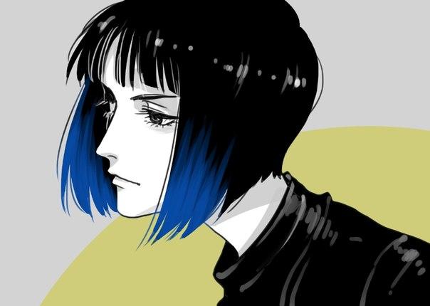 картинки аниме девушки с каре: