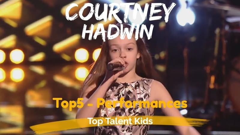🌟 COURTNEY HADWIN 🌟 TOP 5 PERFORMANCES | AGT - VOICE KIDS