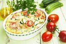 Куриная запеканка с кабачком и помидорами
