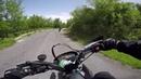 KTM 690 SMC vs HONDA XR 650 on mountain winding road (UNCUT RAW)