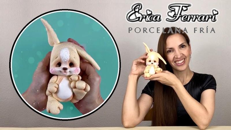 🐶 Erica Ferrari Porcelana Fría Conejo de Pascua Easter Bunny Clase Gratis DIY Tutorial