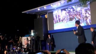 Мун Чжэ Ин празднует победу на выборах президента Южной Кореи