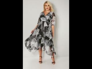 YOURS LONDON: Серое платье 156547