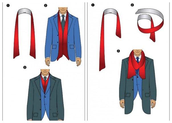 11 способов завязать мужской шарф