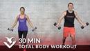 30 минутная силовая тренировка всего тела с гантелями 30 Minute Total Body Workout with Dumbbells Home Strength Training Full Body Workout with Weights