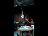12.04.2015 Егор Рябов (сына) Выступление в Буквоеде на Невском пр.
