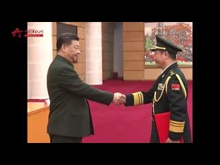 20191212中央军委举行晋升上将军衔仪式 习近平颁发命令状并向晋衔的军官表示祝贺