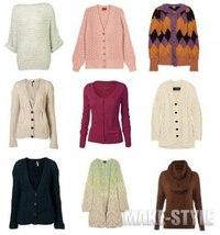 Модные вязаные кофты 2012 .  Кройка, шитье, вязание - способы и приемы.