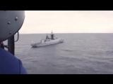 Стрельбы экипажей корветов БФ «Сообразительный» и «Бойкий» в Средиземном море