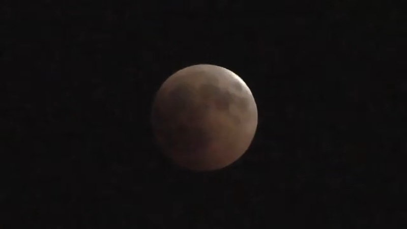 Blood Moon As Seen From Castel Sant'Elmo Naples, Italy ( July 27, 2018 )