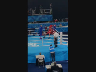 Руслан Колесников: первый бой на Юношеской Олимпиаде 2018