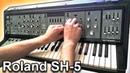 ROLAND SH-5 - Analog synth demo   Bandpass filter tweaking