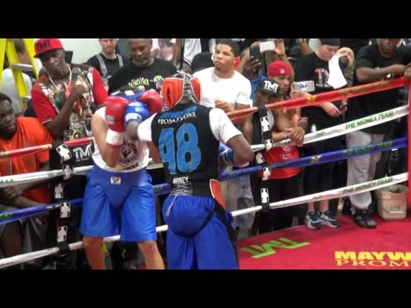 Floyd Mayweather full sparring session in preparation for Andre Berto